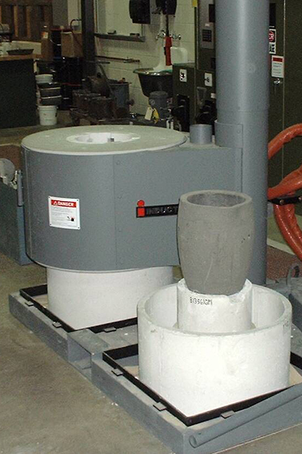 Inductotherm Lift Swing Furnace